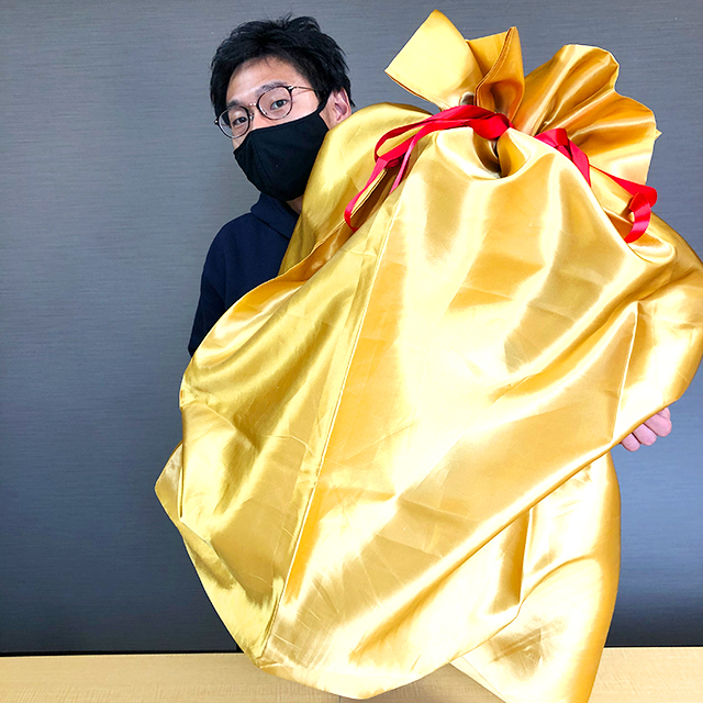 BIGなゴールドプレゼント袋120サイズ③