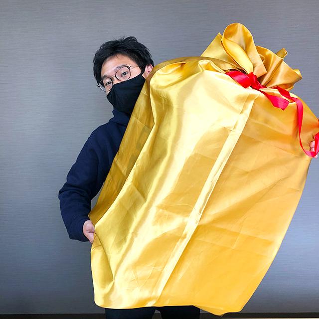 BIGなゴールドプレゼント袋140サイズ③